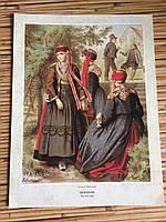 Литография Немецкий костюм Ганновера
