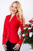 Женский пиджак из мемори коттона 1017 красный