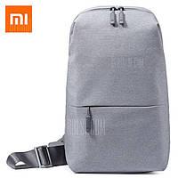 Слинг мешок рюкзак Xiaomi Sling Bag 4Л  LIGHT GRAY (светло-серый) Мешок для фанов Сяоми!