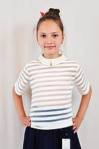 Стильная красивая школьная блуза для девочки