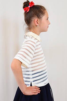 Стильная красивая школьная блуза для девочки, фото 2