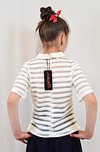 Стильная красивая школьная блуза для девочки, фото 3