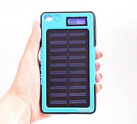 Павер Банк на солнечной батарее 20000 mah Синий