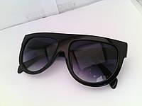 Солнцезащитные очки-маска Celine, черные линзы, есть дефект