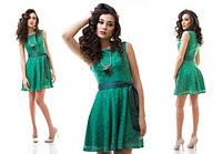 Женское летнее платье, гипюр, короткое, 42, 44