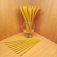 Свеча восковая церковная жёлтая (18,5х0,6 см)
