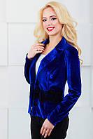 Женский пиджак с отложным воротником 1022 электрик