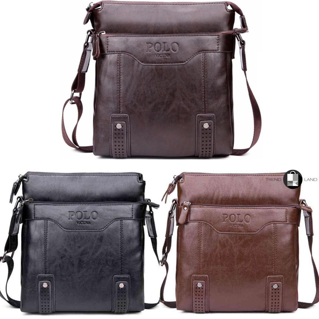 Мужская кожаная сумка Polo Vicuna 3 цвета - Интернет-магазин