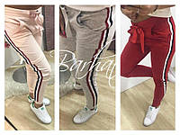 Женские штанишки зауженные в полоску 3 цвета