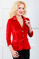 Женский пиджак нарядный с удлиненной спинкой 1024 красный