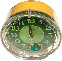 Часы настольные с будильником (∅-10см)