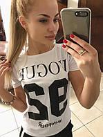 Женская модная футболочка Vogue 4 цвета