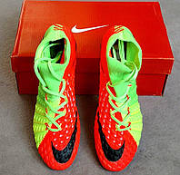 Футбольные бутсы  Hypervenom Phantom III FG Electric Green