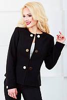 Женский пиджак с длинным рукавом 1023 черный