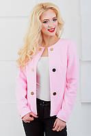 Женский пиджак с длинным рукавом 1023 розовый