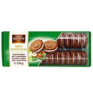 Бисквитное печенье Feiny Biscuits Mini Doppelkeks со вкусом фундука и сливочным кремом , 250г