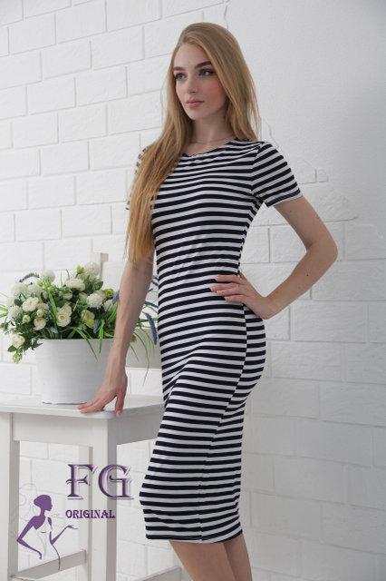 Платье полоска тельняшка