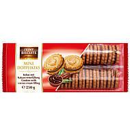 Бисквитное печенье Feiny Biscuits Mini Doppelkeks какао кремом внутри , 250г