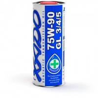 XADO Atomic Oil 75W-90 GL 3/4/5 трансмиссионное синтетическое масло для механических трансмиссий 1л