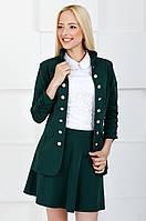 Женский жакет молодежный на пуговицах 1003 зеленый