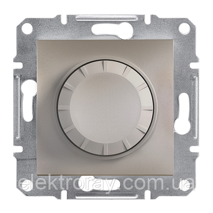 Диммер, светорегулятор поворотный 315 Вт Schneider Asfora бронза, фото 2