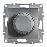Диммер, светорегулятор проходной поворотный 600 Вт Schneider Asfora сталь