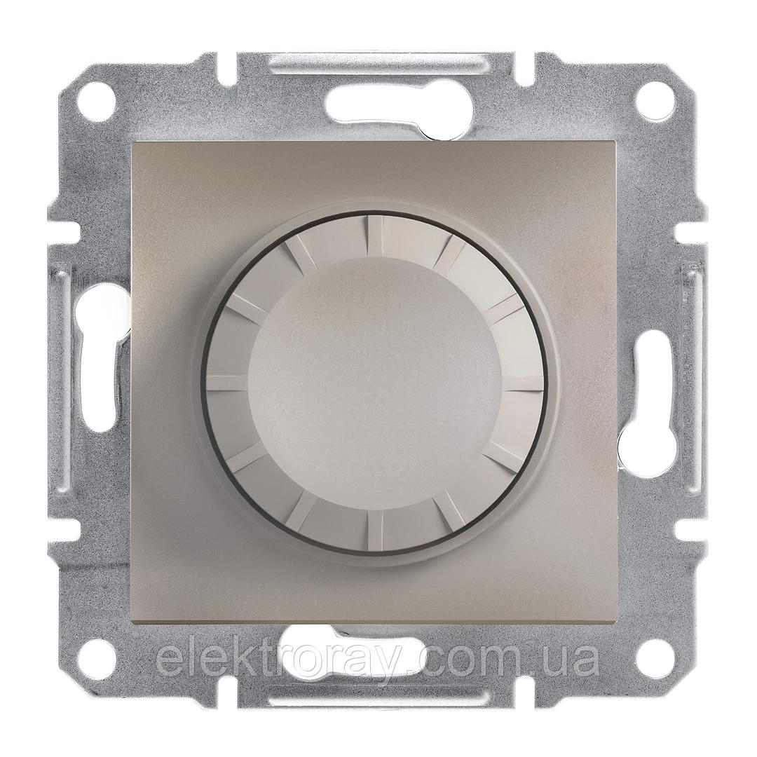 Диммер, светорегулятор проходной поворотный 600 Вт Schneider Asfora бронза