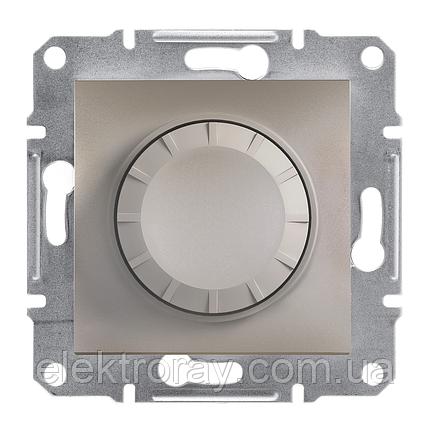 Диммер, светорегулятор проходной поворотный 600 Вт Schneider Asfora бронза, фото 2