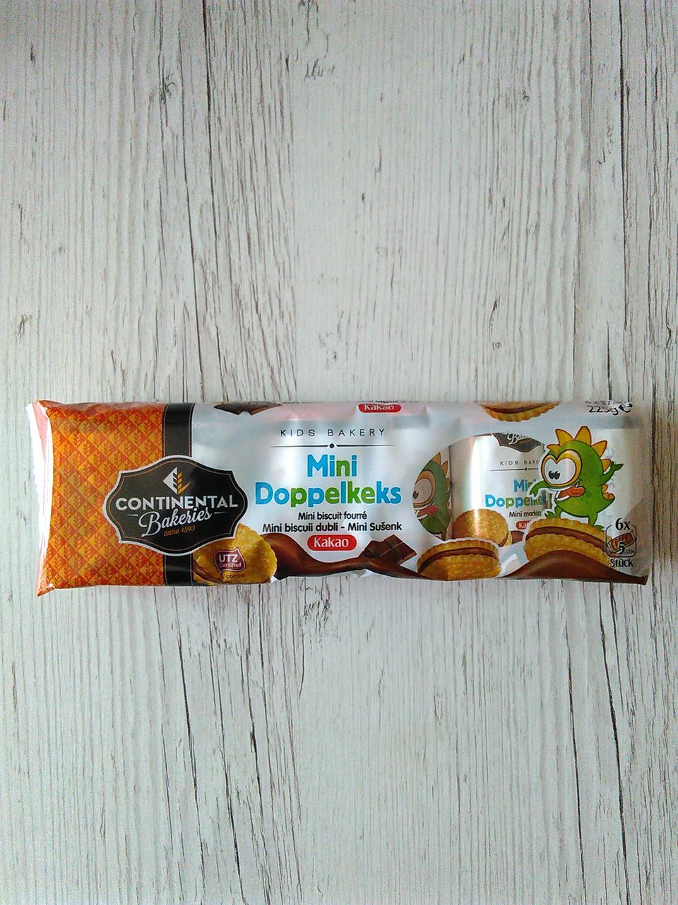 Бісквітне печиво Mini Doppelkeks з шоколадною начинкою , 225г