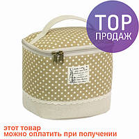 Косметичка-сумочка Бохо Assise light brown / Женская косметичка