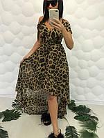 Женский пляжный халат с леопардовым принтом