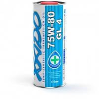 XADO Atomic Oil 75W-80 GL 4 современное полусинтетическое масло для механических трансмиссий 1л