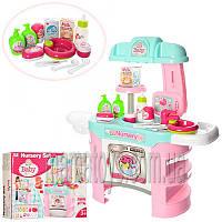 Кухня детская звук, свет 008-910, набор доктора(термометр), 25 предметов