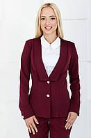 Женский пиджак повседневный, классический 1019 бордовый