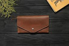 Женский кожаный кошелек ручной работы VOILE vl-lw2w-lbrn-brn, фото 2
