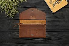Женский кожаный кошелек ручной работы VOILE vl-lw2w-lbrn-brn, фото 3