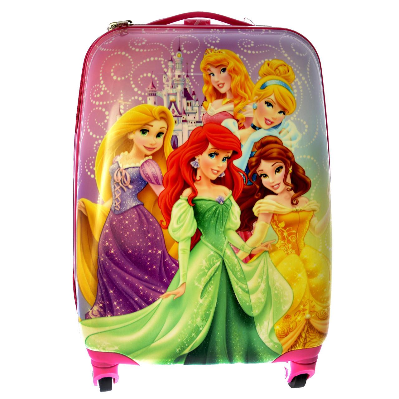 Чемодан на 4-х колесах + рюкзак Принцессы 106P-2
