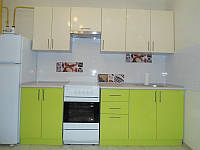 Кухня High Gloss 2,30м (Ваниль + Лайм)
