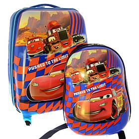 Чемодан на 4-х колесах + рюкзак Тачки 102T-2