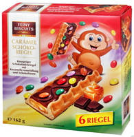 Бисквиты Feiny Biscuits Caramel schoko-riegel с карамелью, 260г