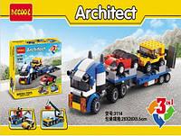 Конструктор Decool Architect 3114 Транспортировщик автомобилей 3в1 (аналог Lego Creator 31033)
