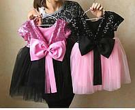Платье с бантом детское пышное