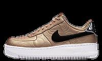 Женские кроссовки  Nike Air Force Gold