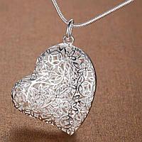 Подвеска кулон сердце LOVE стерлинговое серебро 925 проба цепочка для влюбленных Новинка Шарм