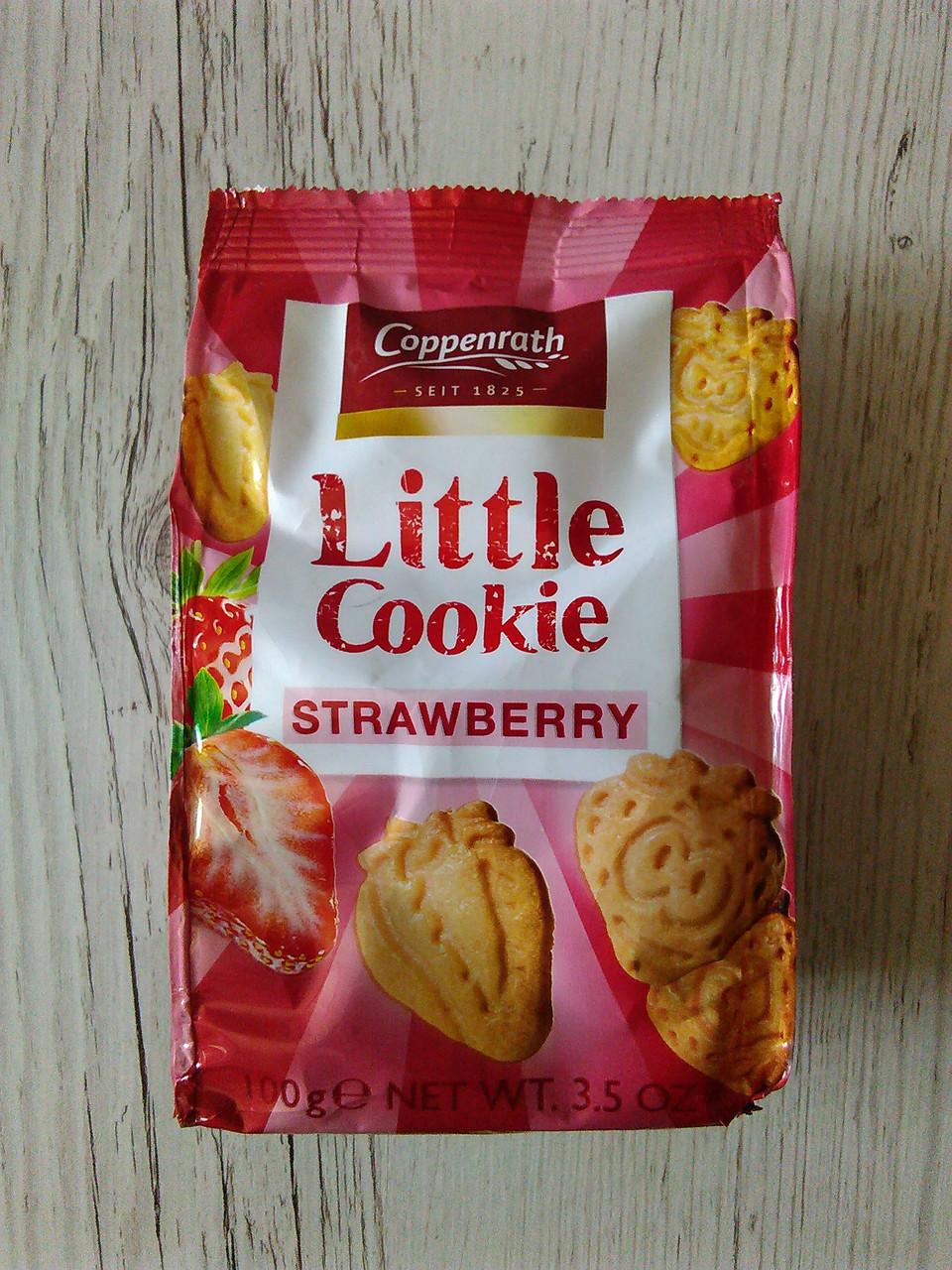 Заварне печиво Coppenrath Little Cookie зі смаком полуниці, 100гр