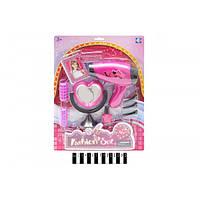 Набор для девочек YF743-3, фен, зеркало, коробка р. 37*27 *6 см.