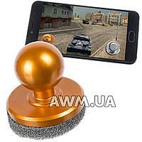 Кнопка Джойстик на присоске для планшета и смартфона золотой
