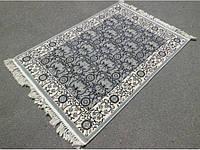 Напольные ковры темно серый бельгийский вискозный ковер, фото 1