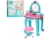 Детский макияжный столик с зеркалом LM90013, набор парикмахерский, трюмо