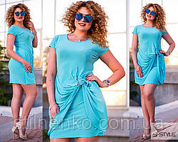 Платье женское,голубое,больших размеров